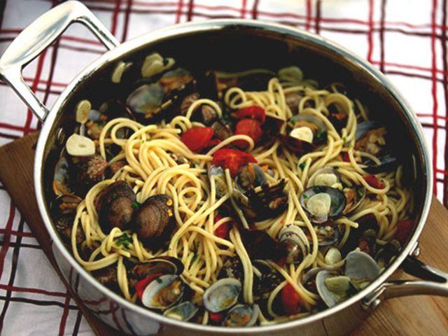 Spaghetti vongole (kock Stefano Catenacci)