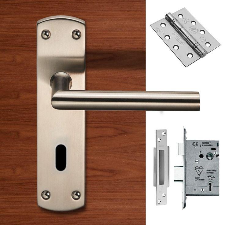 Steelworx CSLP1162P/SSS Mitred Lever Lock Satin Stainless Steel Handle Pack. #doorhandleu0026lock # & 51 best Door Handle u0026 Lock Packs images on Pinterest | Door handles ...