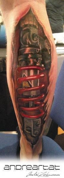 Calf Biomechanical Tattoo by Andreart Tattoo