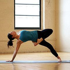 Wow, another crazy yoga pose (but clicking on the picture taking you to an article of what not to wear to yoga class)