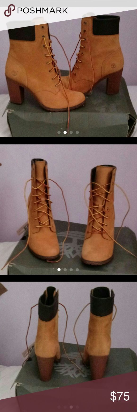 Ankle timberland heel boots Timberland ankle heel boots never worn Timberland Shoes Ankle Boots & Booties