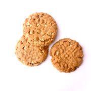 Miranda Lambert's Flourless Peanut Butter Cookie Recipe:  1 c each crunchy Peanut butter, and Granulated sugar  1 lg egg  1 tsp vanilla extract  1 c Peanut Butter Chips