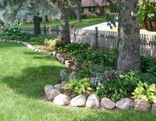 long garden along fence line