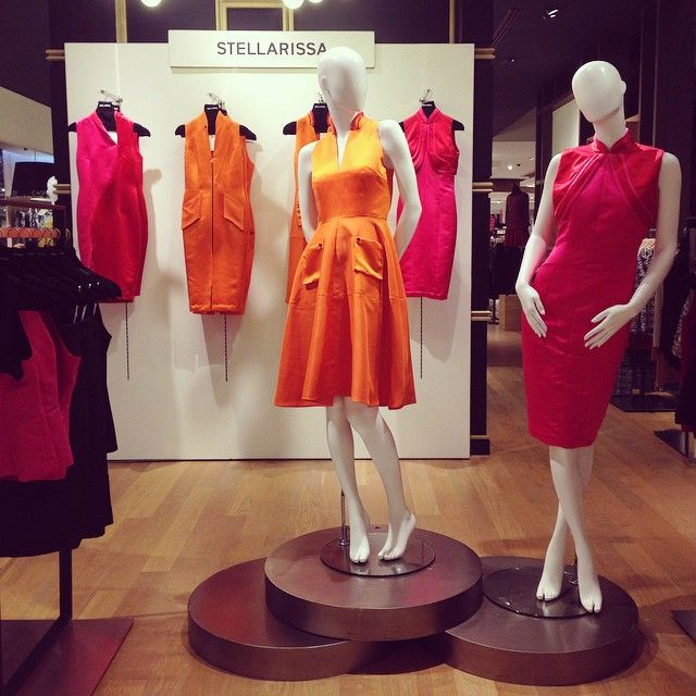 """STELLARISSA Orange Lumina Dress and Pink Lindy Dress are certainly a must have for this Lunar New Year! Only available at Galeries Lafayette, Pacific…"""