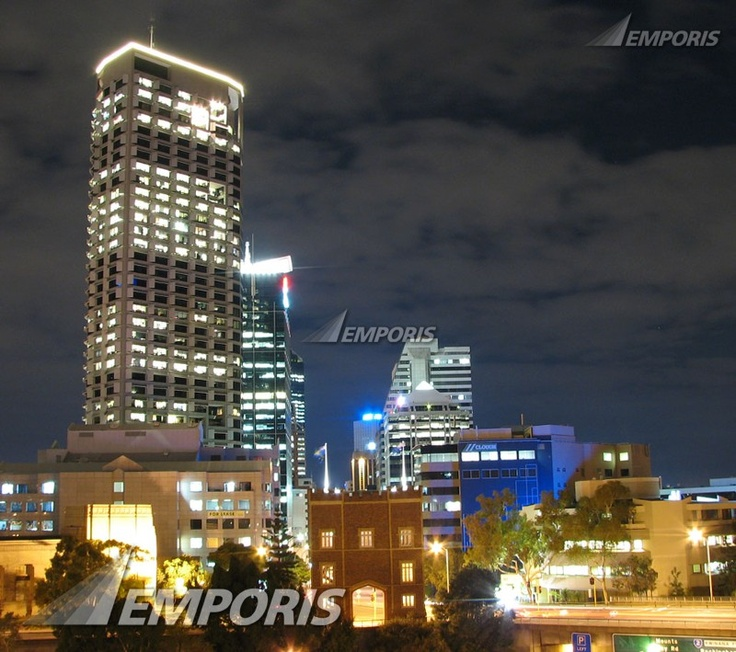 View of St Georges Terrace from Parliament House, Perth