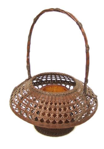AP06 Vintage Japanese Ikebana Basket   Guillermina