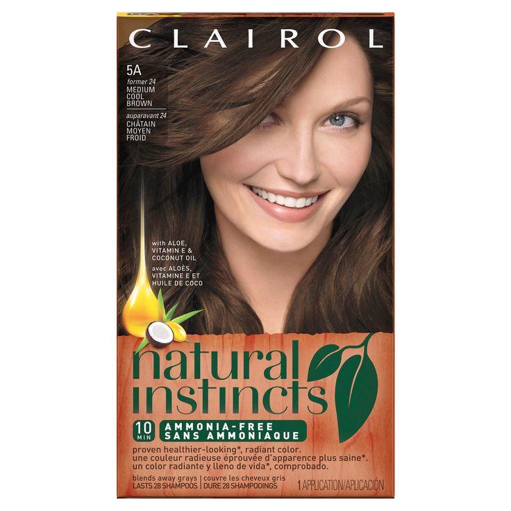 Clairol Natural Instincts Non-Permanent Hair Color - 5A/24 Clove Medium Cool Brown - 1 Kit, Medium Cool Brown-24