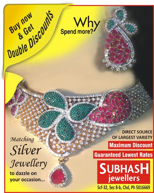 Matching silver jewellery to dazzle on your #occasion.... Subhash jewellers Scf 32, sector 8.b, (inner market) #chandigarh, india .http://bit.ly/1b2SLQt