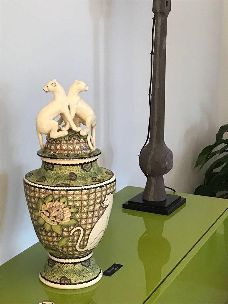 Ardmore Leopard Urn