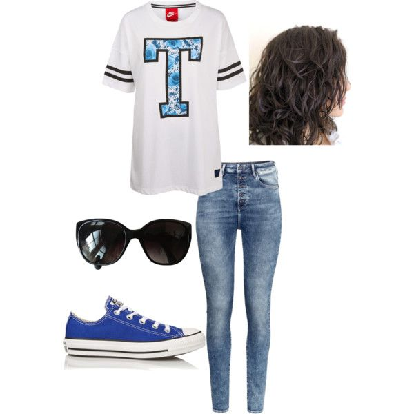 Athletic look by shanieceregiste1 on Polyvore featuring NIKE, H&M, Converse and Chanel