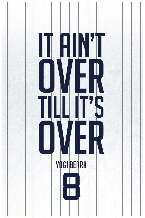 ''Yogi Berra Quote on Print. See more at www.finesportsprints.com #berra #sportsquote #yankees''