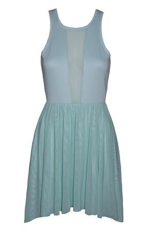 Willow Mint Sheer Panel Dress $64.95