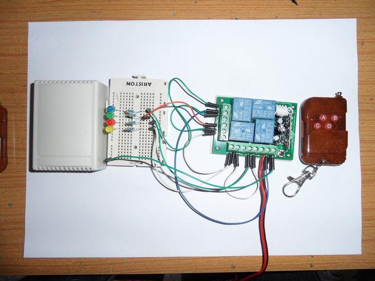 Programacion del receptor de 4 canales de 12v de 315mhz inteligente sin ...