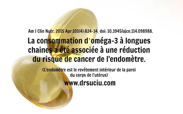 Les Oméga 3 réduisent le risque de cancer de l'endomètre