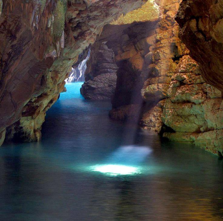 Cave Brbišćica, Dugi Otok, Croatia. Photo: Tourist board Dugi otok.  #croatia #cave #island
