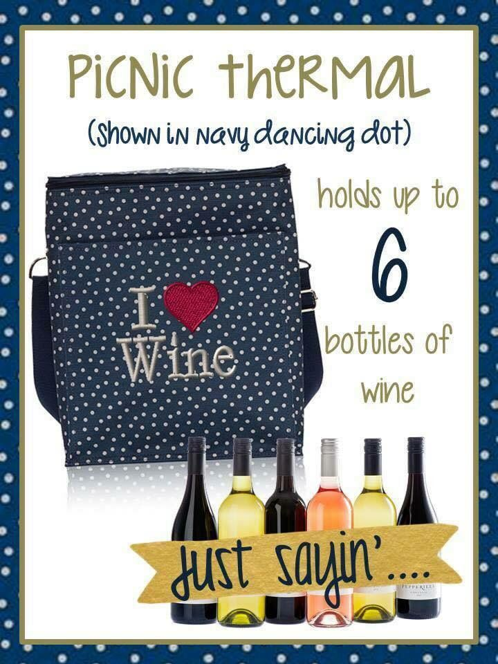 Thirty One Gifts Wine Fall 2015 http://mythirtyone.com/suzy I don't think I will use it this way but... Picnic thermal