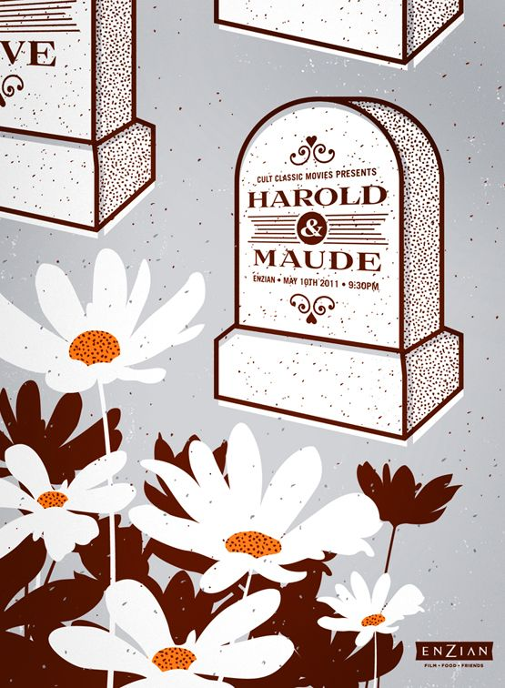 Harold & Maude Cult Classic Poster by Lure Design