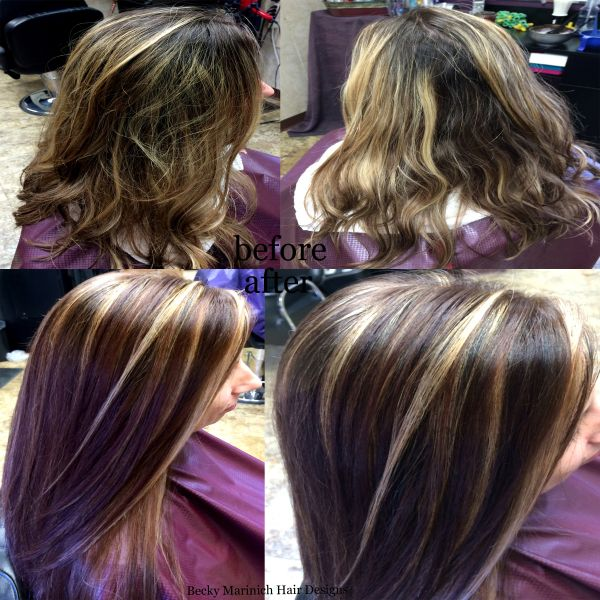 Highlights Over Colored Hair Choice Image Hair Extensions For