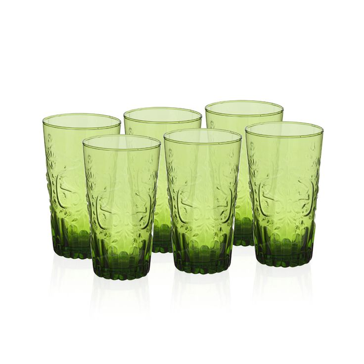 Bernardo Yeşil Kabartmalı Bardak #drinking #glass #green #tabledesign