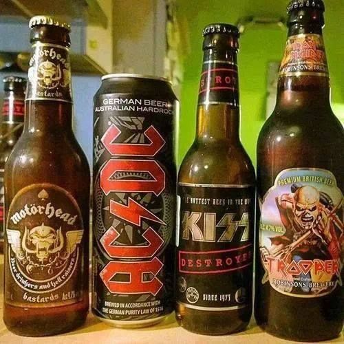 Motörhead, AC/DC, Kiss and Iron Maiden all have their own beers
