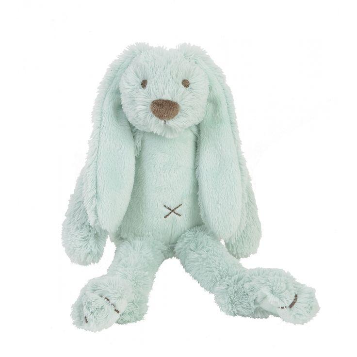 Super lief zacht mint knuffelkonijn. Het konijntje is 28 cm. groot. Soft mint rabbit
