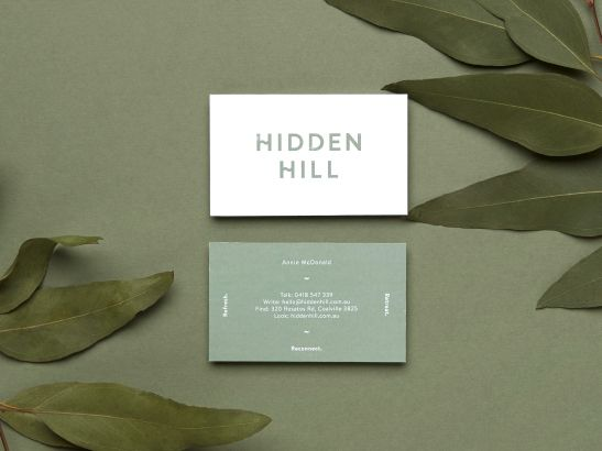 Hidden Hill — Business Cards