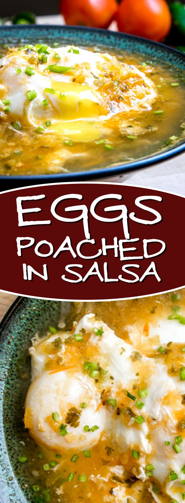 Incredible flavor in these Huevos Ahogados -- Eggs Drowned in Tomato-Jalapeno Salsa