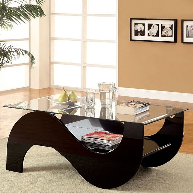 Furniture Of America Sanzi Contemporary Black Lacquer Base Coffee Table    Overstock™ Shopping   Great Deals On Furniture Of America Coffee, Sofa U0026 End  ...