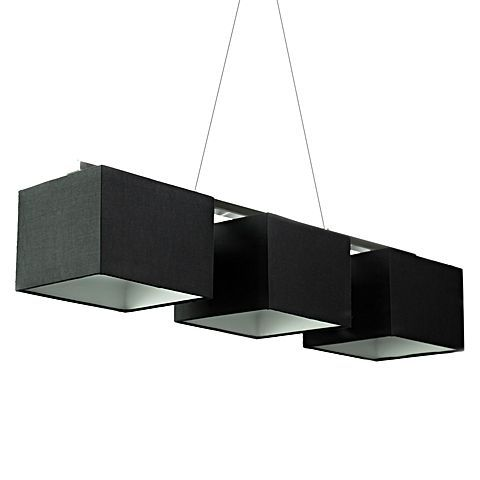 Denote a deluxe look in your home with the divine monochromes and luminous quality of the Bassett 3-Light Rectangular Pendant Light, Black from Iniko.