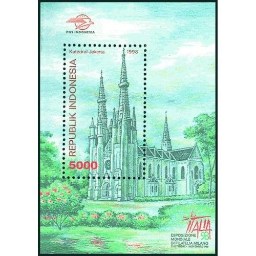 SS INDONESIA STAMP EXHIBITION ITALIA 1998 Gereja Katedral Jakarta
