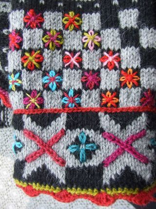 Norwegian knit looks even better with some colours