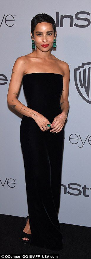 Hollywood beauties: Reese Witherspoon, Zoe Kravitz and Lea Michele simply glowed in their black dresses