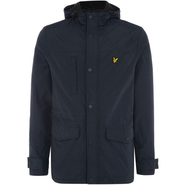Lyle and Scott Microfleece Lined Jacket (280 BRL) ❤ liked on Polyvore featuring men's fashion, men's clothing, men's outerwear, men's jackets, sale men coats and jackets, mens hooded windbreaker, mens windbreaker jacket, mens jackets and mens hooded jackets