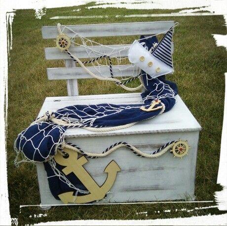 Κουτί Βάπτισης με θέμα θαλασσινό