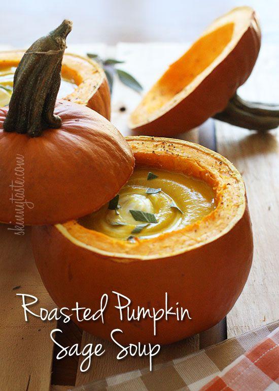 Roasted Pumpkin Sage Soup | Skinnytaste
