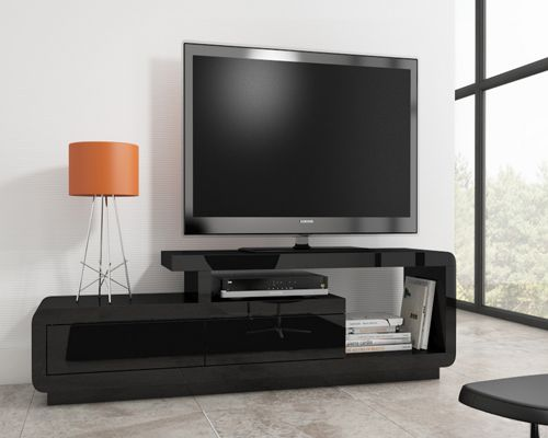 Evoque high gloss black TV unit