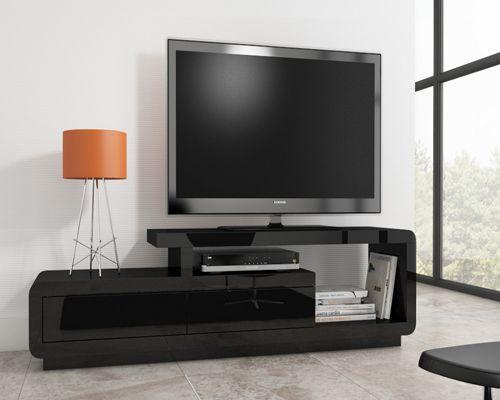 Evoque high gloss black TV unit