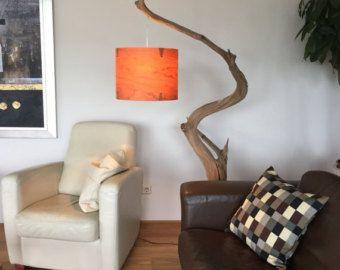 Lámpara de pie lámpara de arco de rama de encina por GBHNatureArt