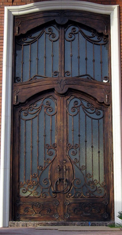 This would look just as beautiful in wood. //Custom Iron Door