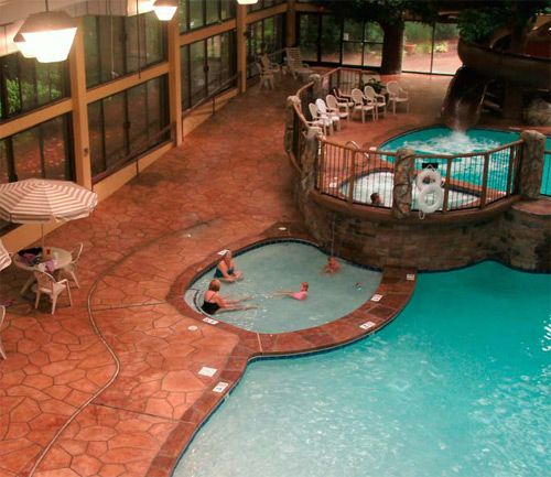 Renovated concrete pool deck at The Park Vista in Gatlinburg, Tenn.