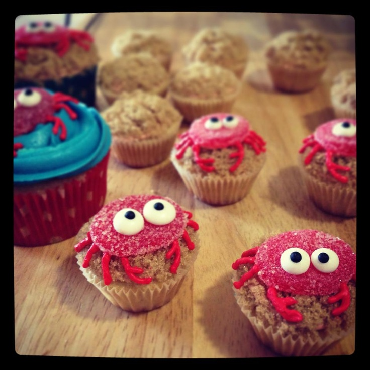 Captain Bugglepuffs crab cupcake idea - what super fun!