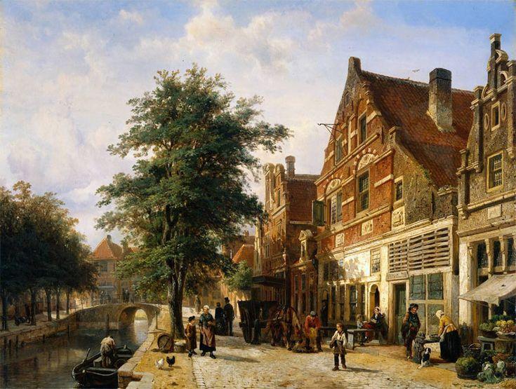 Paisaje urbano de Cornelis Springer