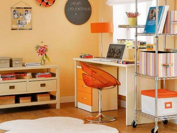 Orange Wall Paint for Home Office