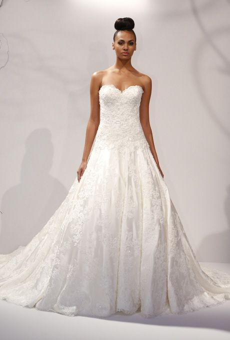 dennis basso wedding gowns | dennis basso 2013 jayden strapless lace ball gown wedding dress
