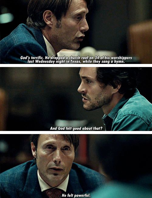 "(gif set) ""He felt powerful."" ||| Hannibal 1x02 ""Amuse-Bouche"""