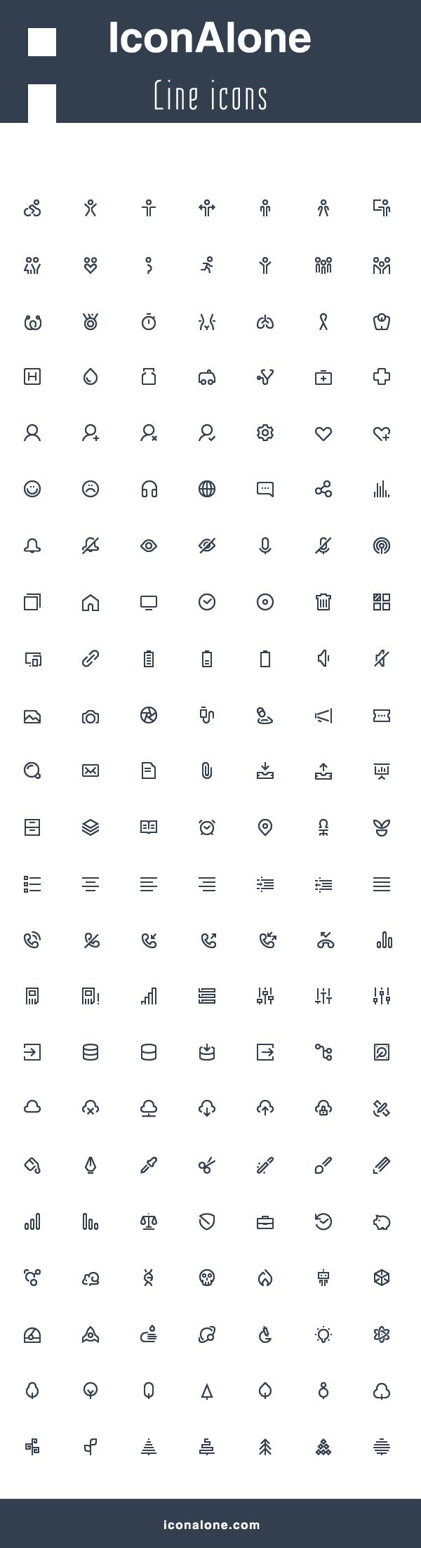 IconAlone line icons on Behance
