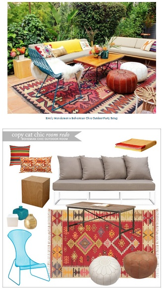 Copy Cat Chic Room Redo Bohemian Chic Outdoor Room Get The Look