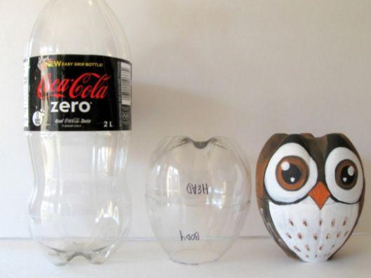 Uil ~ hoe lief is dit uiltje? En het enige wat je nodig hebt is een fles en verf! :)
