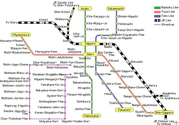 The Sapporo Subway, because you'd only go to Sapporo in the winter and then it's way too cold to walk around.