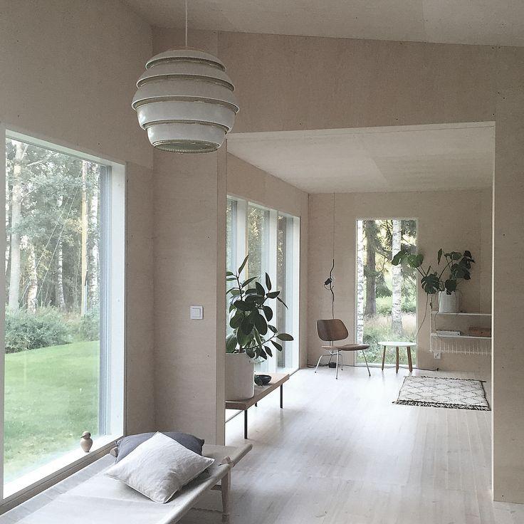 Aalto A331 Beehive ceiling lamp, brass, by Artek. Photo by Minna Jones.
